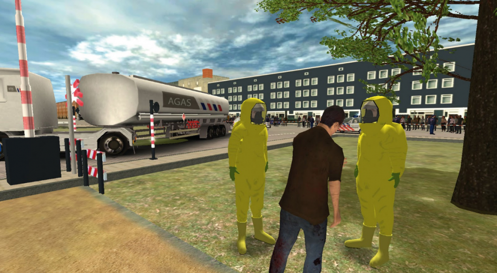 Accident scenario simulation via VR technology