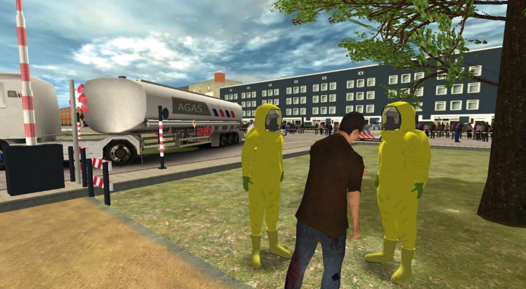 Accident scenario simulation via VR technology