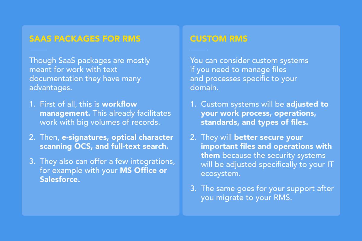 Custom Records Management System vs SaaS